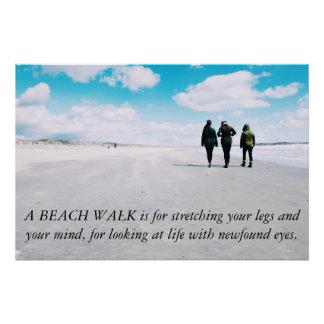 """Uma caminhada da praia… 28"""" x 18,67"""" poster poster perfeito"""