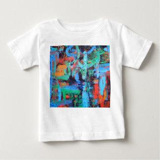 Uma caminhada na floresta - Brushstrokes da arte Camiseta Para Bebê