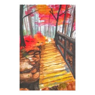 Uma caminhada nas madeiras papelaria