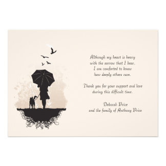 Uma caminhada no obrigado do falecimento da chuva  convite