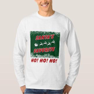 Uma camisa longa da luva T do Natal com citações