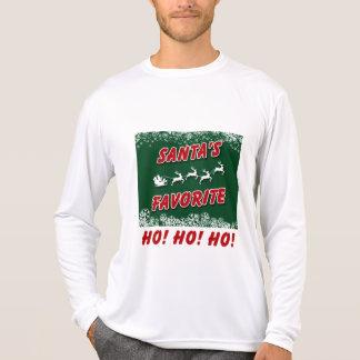 Uma camisa longa da luva T do Natal, simples com