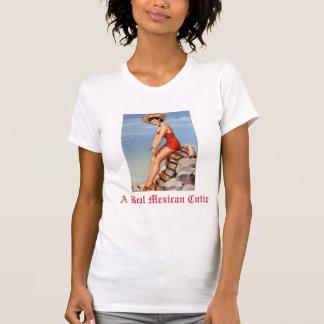 Uma camisola de alças real de Cutie do mexicano T-shirt