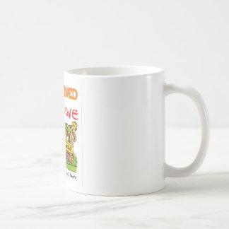 Uma caneca de café do rastejamento do bar do amor