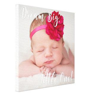 Uma canvas pequenas grandes ideais da foto do bebê