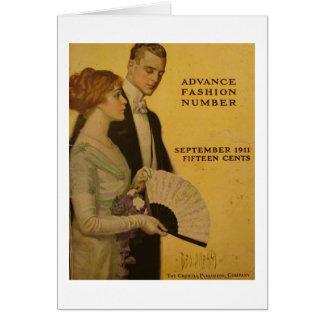 Uma capa de revista do vintage, Sept 1911 Cartão