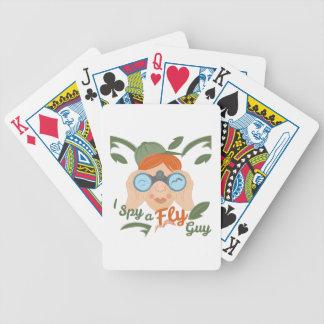 Uma cara da mosca jogos de cartas