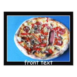 Uma cara real da pizza convite personalizado