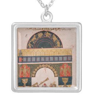 Uma carta astrológica indiana colar personalizado