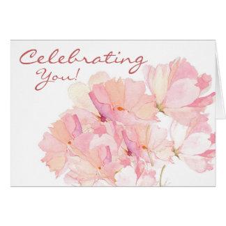 Uma celebração de VOCÊ cartão de aniversário