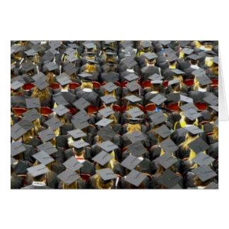 Uma cerimónia de graduação é um evento cartão comemorativo