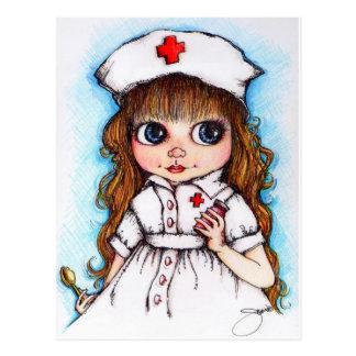 Uma colher de enfermeira do açúcar… cartão postal