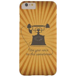 Uma comunicação verbal encorajadora do design das capas iPhone 6 plus barely there