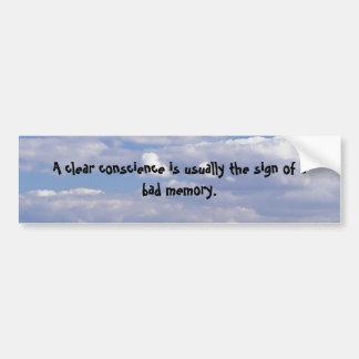 Uma consciência clara adesivo para carro