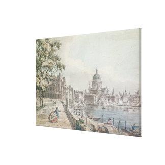 Uma cópia da parte de um desenho por Canaletto, de Impressão Em Tela