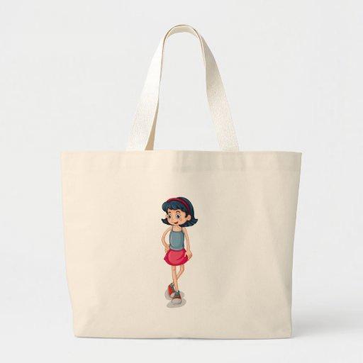 Uma criança alta bolsa de lona