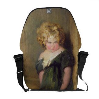 Uma criança impertinente (óleo em canvas) bolsa mensageiro