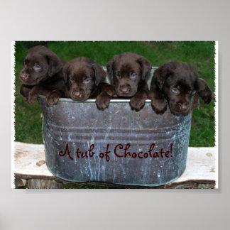 Uma cuba de imagem do chocolate poster