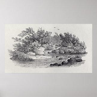Uma curvatura no rio 'da história de Ingleses Posteres