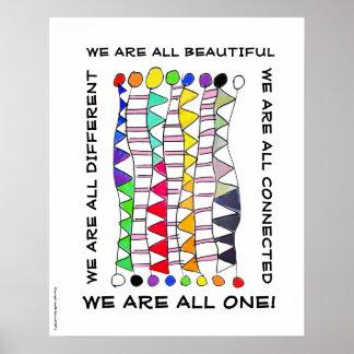 Uma da diversidade celebração original bonita & poster