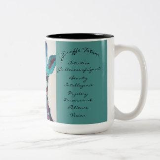 Uma de uma caneca de café amável do totem do