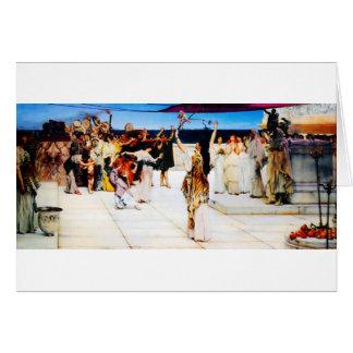 Uma dedicação ao Baco pelo senhor Lawrence Alma Cartão Comemorativo