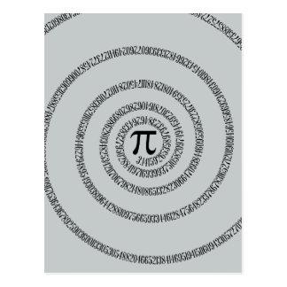 Uma espiral no clique do Pi personaliza a cor do Cartão Postal
