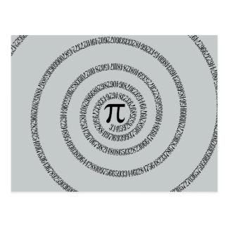 Uma espiral para o clique do Pi personaliza a cor Cartão Postal