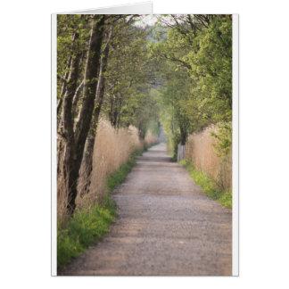 Uma estrada a andar para baixo cartão comemorativo