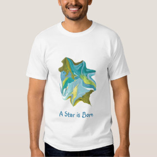 Uma estrela é camiseta nascida da arte abstracta