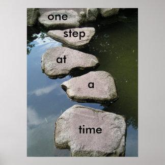 Uma etapa em um poster inspirador do tempo