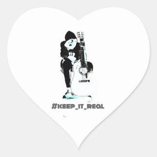 uma etiqueta #keep_it_real agradável adesivo coração