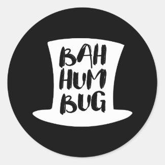 Uma etiqueta redonda do feriado da farsa de Bah da