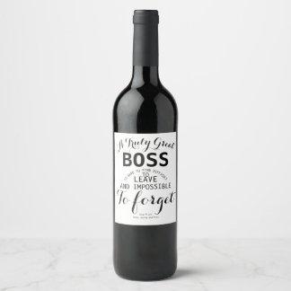 Uma etiqueta verdadeiramente grande do vinho do