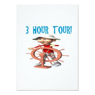 Uma excursão de três horas convite 12.7 x 17.78cm