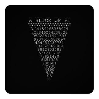 Uma fatia de dígitos do Pi Convite Quadrado 13.35 X 13.35cm