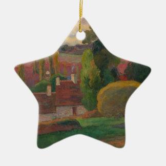 Uma fazenda em Brittany - Paul Gauguin Ornamento De Cerâmica