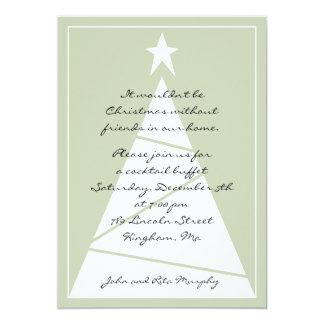 Uma festa de Natal! Convite 12.7 X 17.78cm