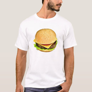 Uma foto suculenta grande do cheeseburger camiseta