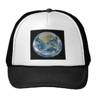 Uma imagem de mármore azul da terra do planeta boné
