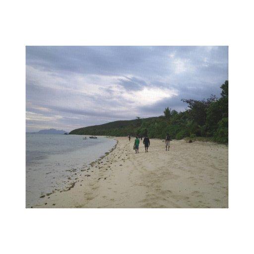 Uma imagem do paraíso impressão de canvas esticadas