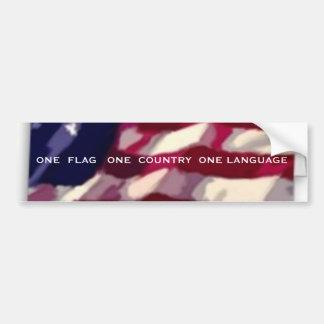 Uma língua do país um da bandeira uma adesivo para carro