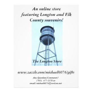 Uma loja em linha que caracteriza Longton! Flyer 21.59 X 27.94cm