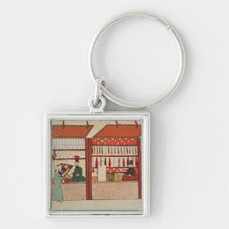 Uma loja que vende a mercadoria diferente chaveiro