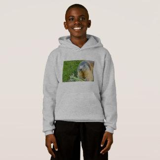 uma marmota no Hoodie de Blend® do conforto do