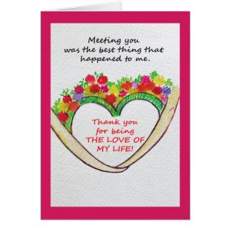 Uma mensagem especial do aniversário de casamento cartão comemorativo