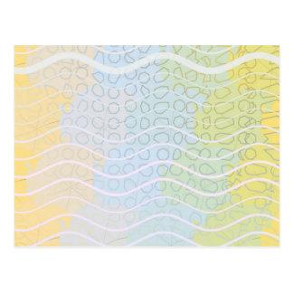 Uma mistura de azuis e de amarelos cartões postais