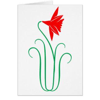 Uma mostra de flor ELEGANTE Cartão Comemorativo