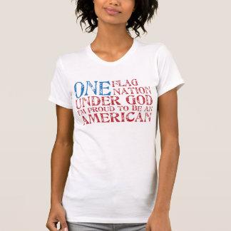 Uma nação da bandeira uma camisetas