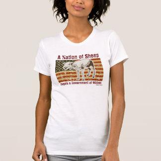 Uma nação do t-shirt dos carneiros